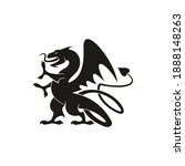 dragon or gryphon isolated... | Shutterstock .eps vector #1888148263