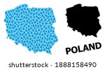vector mosaic and solid map of... | Shutterstock .eps vector #1888158490