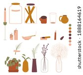 set of home decor elements. a...   Shutterstock .eps vector #1888164619