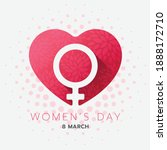 women day banner   female... | Shutterstock .eps vector #1888172710