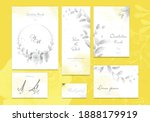 set of yellow and ultimate gray ... | Shutterstock .eps vector #1888179919
