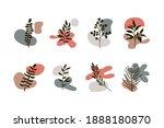 abstract botanical set.... | Shutterstock .eps vector #1888180870