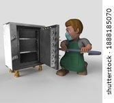 3d render of cartoon shop...   Shutterstock . vector #1888185070