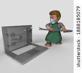 3d render of cartoon shop...   Shutterstock . vector #1888185079
