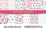 valentine gnome seamless... | Shutterstock .eps vector #1888200916