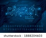 vector of circuit alphabet...   Shutterstock .eps vector #1888204603