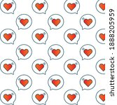 heart icon pattern. love and... | Shutterstock .eps vector #1888205959