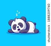 cute panda sleeping cartoon... | Shutterstock .eps vector #1888209760