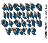 retro vector font. two color... | Shutterstock .eps vector #188821163