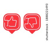 like and dislike icon. thin... | Shutterstock . vector #1888221493