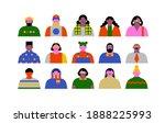big set of diverse people... | Shutterstock .eps vector #1888225993
