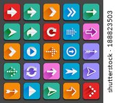 set of flat arrow icons for... | Shutterstock . vector #188823503