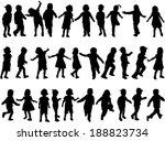 children silhouettes   Shutterstock .eps vector #188823734
