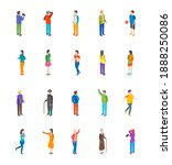 people characters icon set... | Shutterstock . vector #1888250086