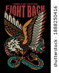 eagle fights with a snake... | Shutterstock .eps vector #1888250416