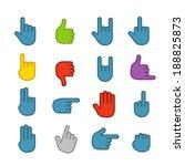 basic human gestures color... | Shutterstock .eps vector #188825873