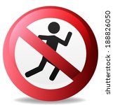 no sign  sign not to run... | Shutterstock .eps vector #188826050