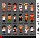 boys in national costumes with... | Shutterstock .eps vector #1888263079