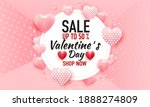 valentines day sale background... | Shutterstock .eps vector #1888274809