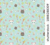 moon artemis cats sailor moon...   Shutterstock .eps vector #1888288309