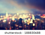 blurred lighhts from peak... | Shutterstock . vector #188830688