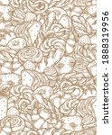 hand drawn seamless pattern of...   Shutterstock .eps vector #1888319956