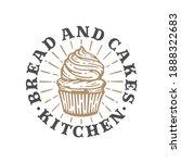 logo cupcakes bakery in doodle...   Shutterstock .eps vector #1888322683