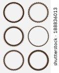 set of grunge round frames  | Shutterstock .eps vector #188836013