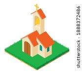 Wedding Church Icon. Isometric...