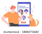veterinary clinic website ... | Shutterstock .eps vector #1888373680