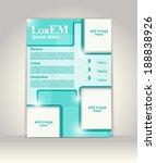 flyer  brochure or magazine... | Shutterstock .eps vector #188838926