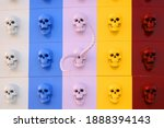 Colorful Skull On The Wall