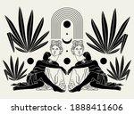 vector hand drawn flat ...   Shutterstock .eps vector #1888411606