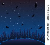 night forest landscape with bats | Shutterstock .eps vector #188841173