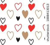 abstract pattern of hearts on... | Shutterstock .eps vector #1888413013