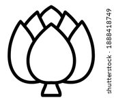 Grocery Artichoke Icon. Outline ...
