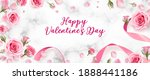 Valentines Day Background With...