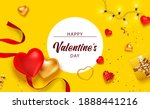 valentine background with... | Shutterstock .eps vector #1888441216
