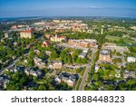 Small photo of Aerial View of Lawrence, Kansas and its State University
