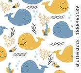 vector seamless childish... | Shutterstock .eps vector #1888465189