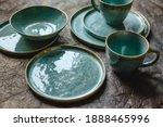 Handmade Turquoise Earthenware...