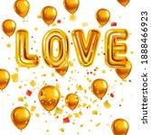 love gold helium metallic... | Shutterstock .eps vector #1888466923