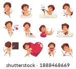amur cupid valentine day set of ... | Shutterstock .eps vector #1888468669