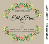 wedding invitation | Shutterstock .eps vector #188846894