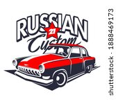 classic russian muscle car logo ... | Shutterstock .eps vector #1888469173