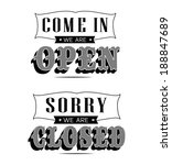 open and closed vintage retro...   Shutterstock . vector #188847689