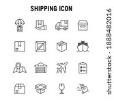 set of line icons for freight... | Shutterstock .eps vector #1888482016