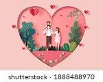 a family enjoys fresh air in... | Shutterstock .eps vector #1888488970