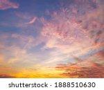 Twilight Sky Background With...