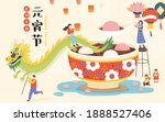 cny yuanxiao poster. a bowl of... | Shutterstock .eps vector #1888527406